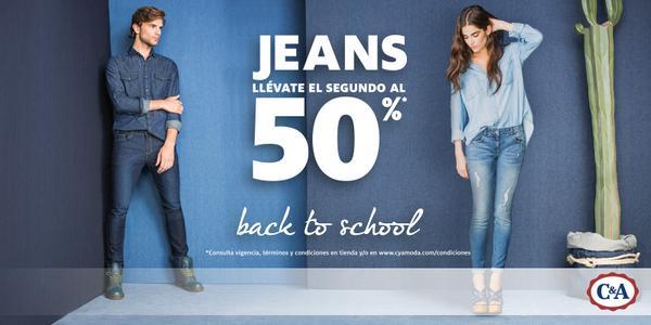 Descuentos en jeans: 2x1 y medio en C&A y 30% de descuento en Aéropostale