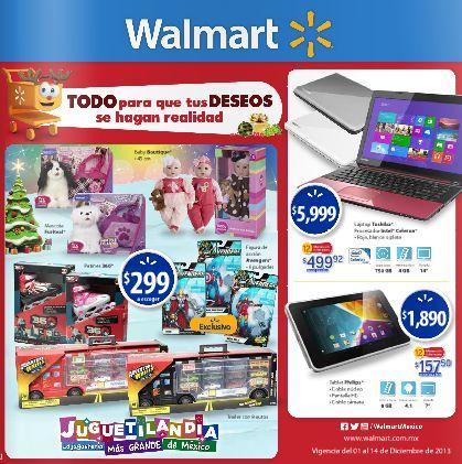 Folleto de ofertas en Walmart del 1 al 14 de diciembre