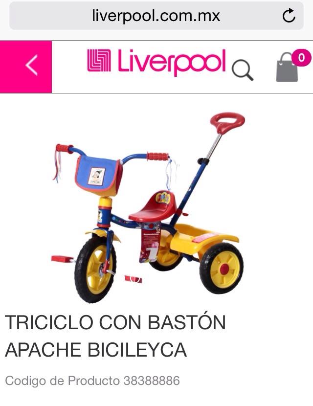 Liverpool: 20% de descuento en Triciclos apache