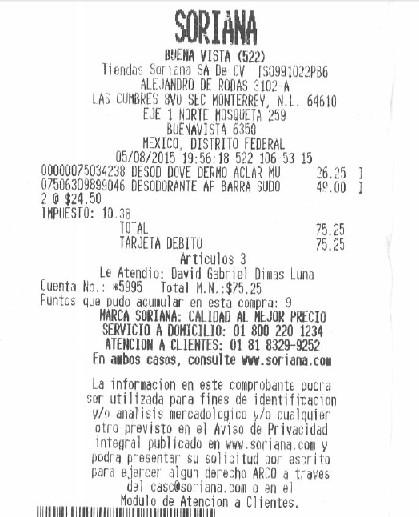 Soriana: desodorante Old Spice Sudor Defense $24.50, Dove dermo aclarant $26.25