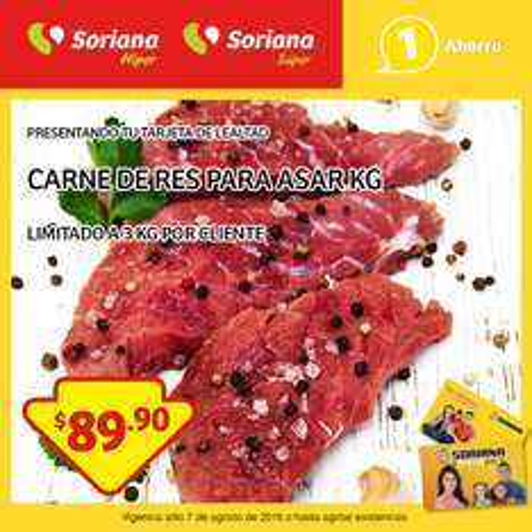 Soriana: Carne de Res para Asar