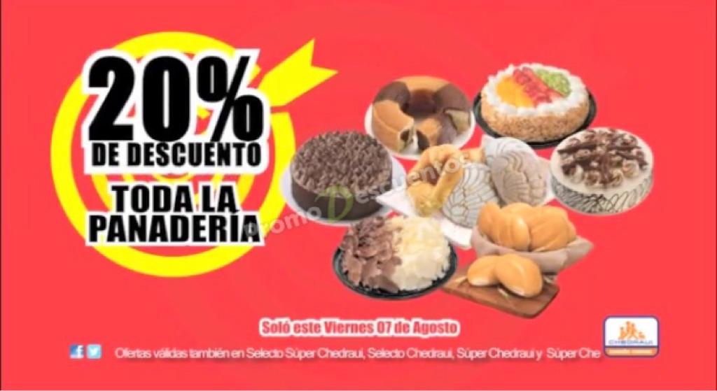Chedraui: 20% de descuento en toda la panadería