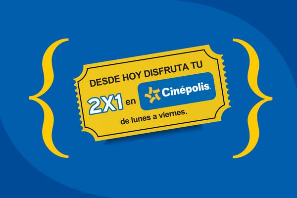 Virgin Mobile: Boleto gratis o 2x1 en Cinepolis ¡Todas las semanas, siempre!