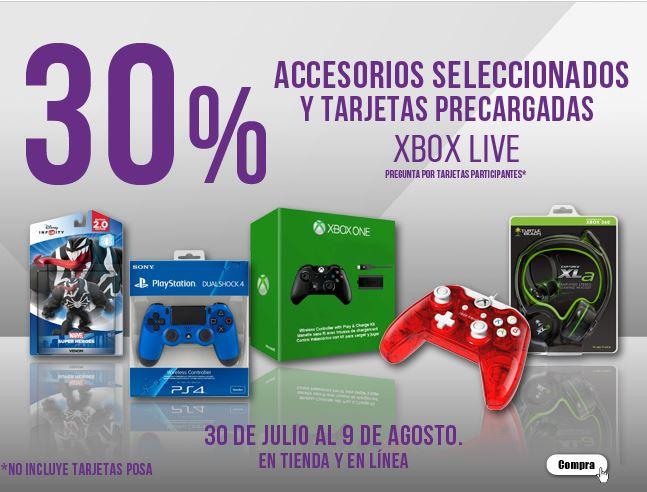 Gamerush: 30% de descuento en tarjetas Xbox  y accesorios. (Tarjeta de $800 a $561, Tarjeta 12 meses a $490, y mas!)