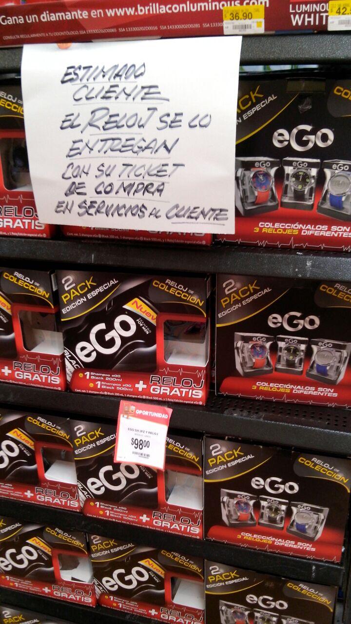 Walmart: 2 Shampoo's EGO + Reloj a $98