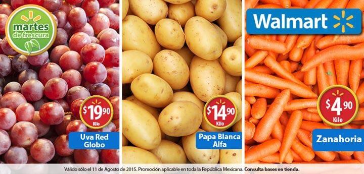 Martes de frescura en Walmart agosto 11: Zanahoria a $4.90 el kilo y más