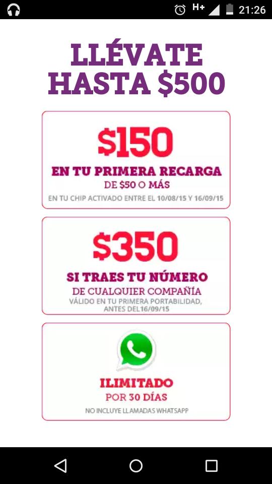 Virgin Mobile $500 de saldo al realizar migración de numero