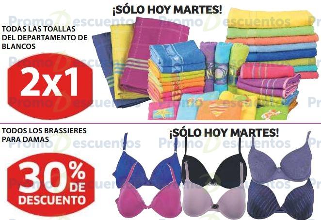 Soriana: 2x1 en toallas y 30% de descuento en brassieres