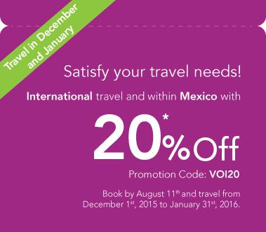 20% de descuento en viajes internacionales y nacionales