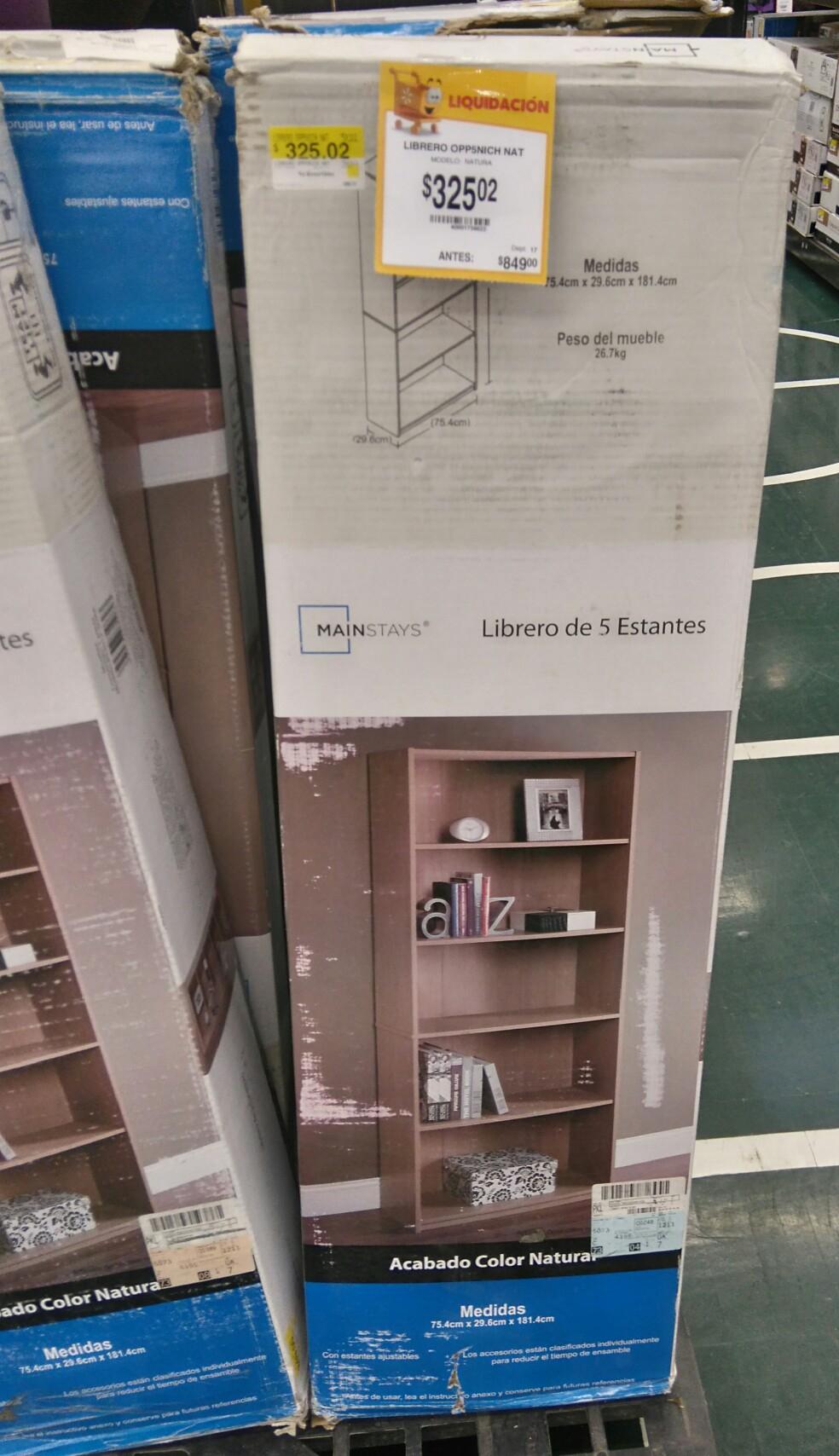 Walmart: Librero MAINSTAYS a $329.02
