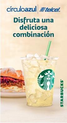 CírculoAzul Telcel: 20% de descuento en Panini más bebida refrescante en Starbucks