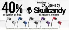 Blockbuster: Audífonos 2XL Spoke by Skullcandy $99