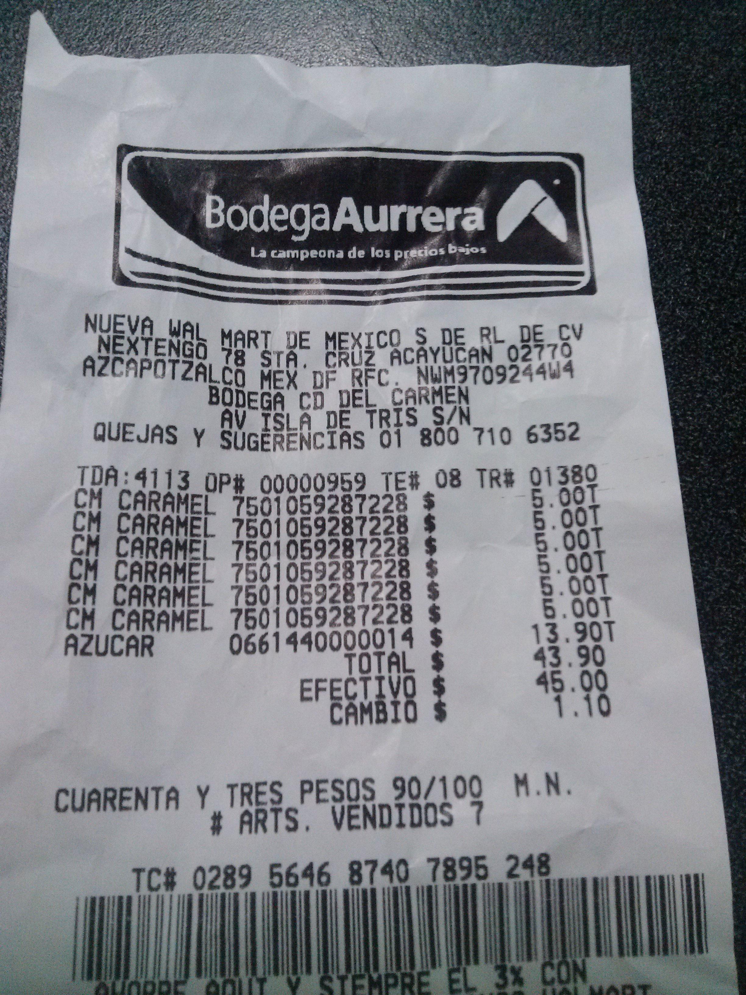 Bodega Aurrerá: COFFEE MATE CARAMELO $5.00