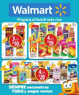 Walmart: Folleto del 13 al 26 de Agosto