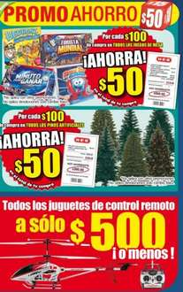 HEB: $50 de descuentos por cada $100 en árboles de Navidad, juegos de mesa y más