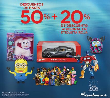 Sanborns: 20% de descuento adicional en juguetes con etiqueta roja