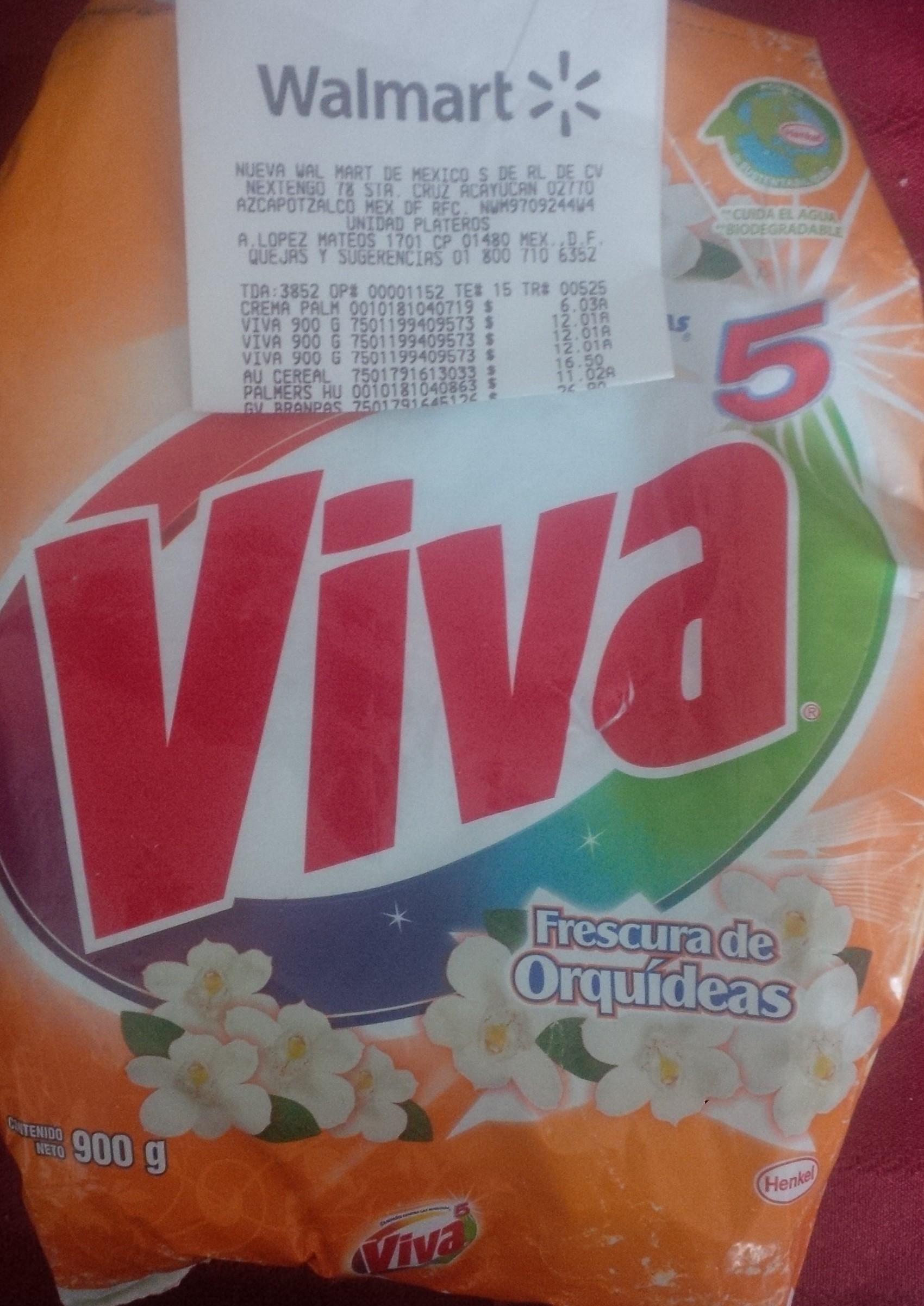 Walmart: detergente Viva5 Frescura de Orquídeas a $12.01