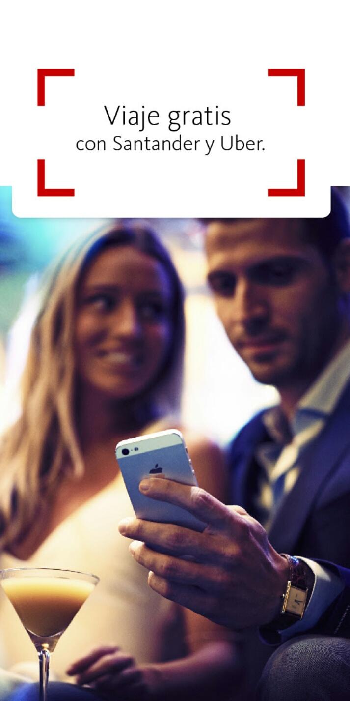 Santander: 2 viajes gratis en Uber
