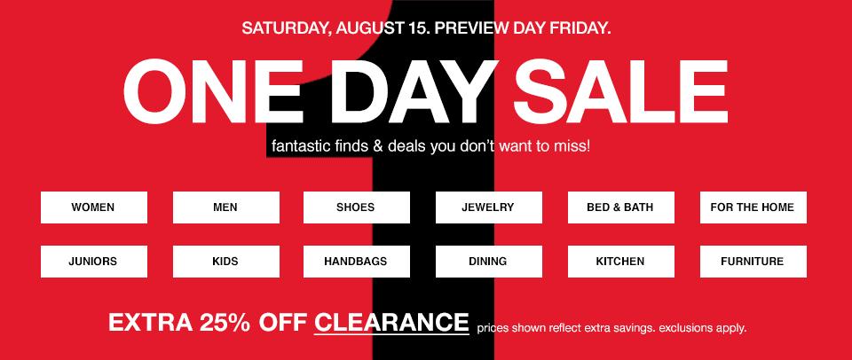 Macy's: venta especial de un día