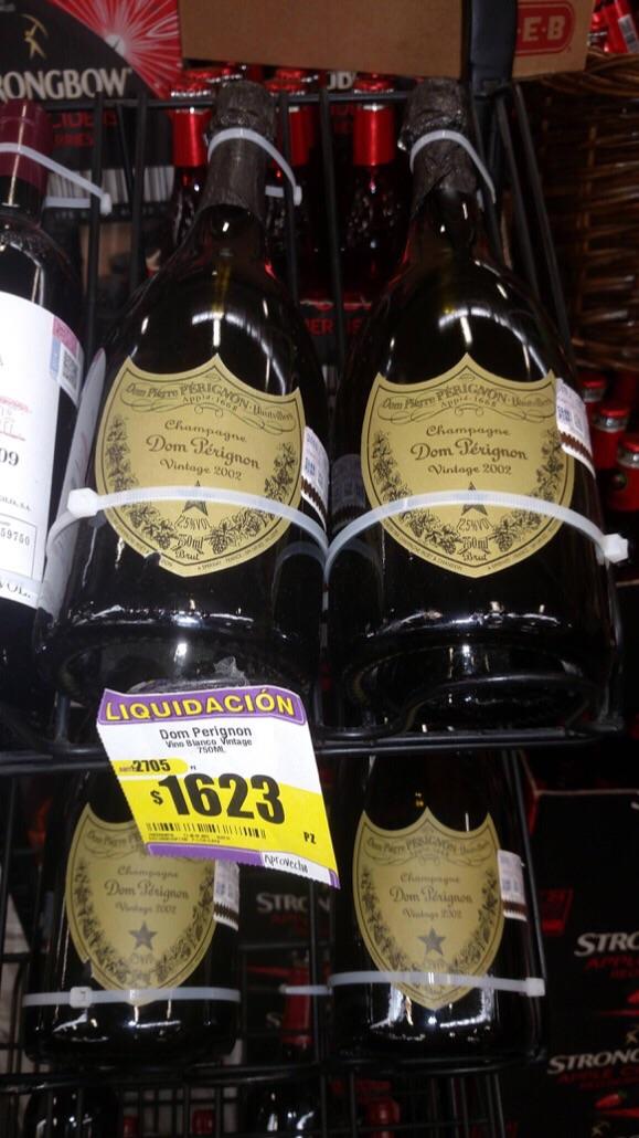 HEB: Don Pérignon a $1,623 y otros vinos y licores en liquidación