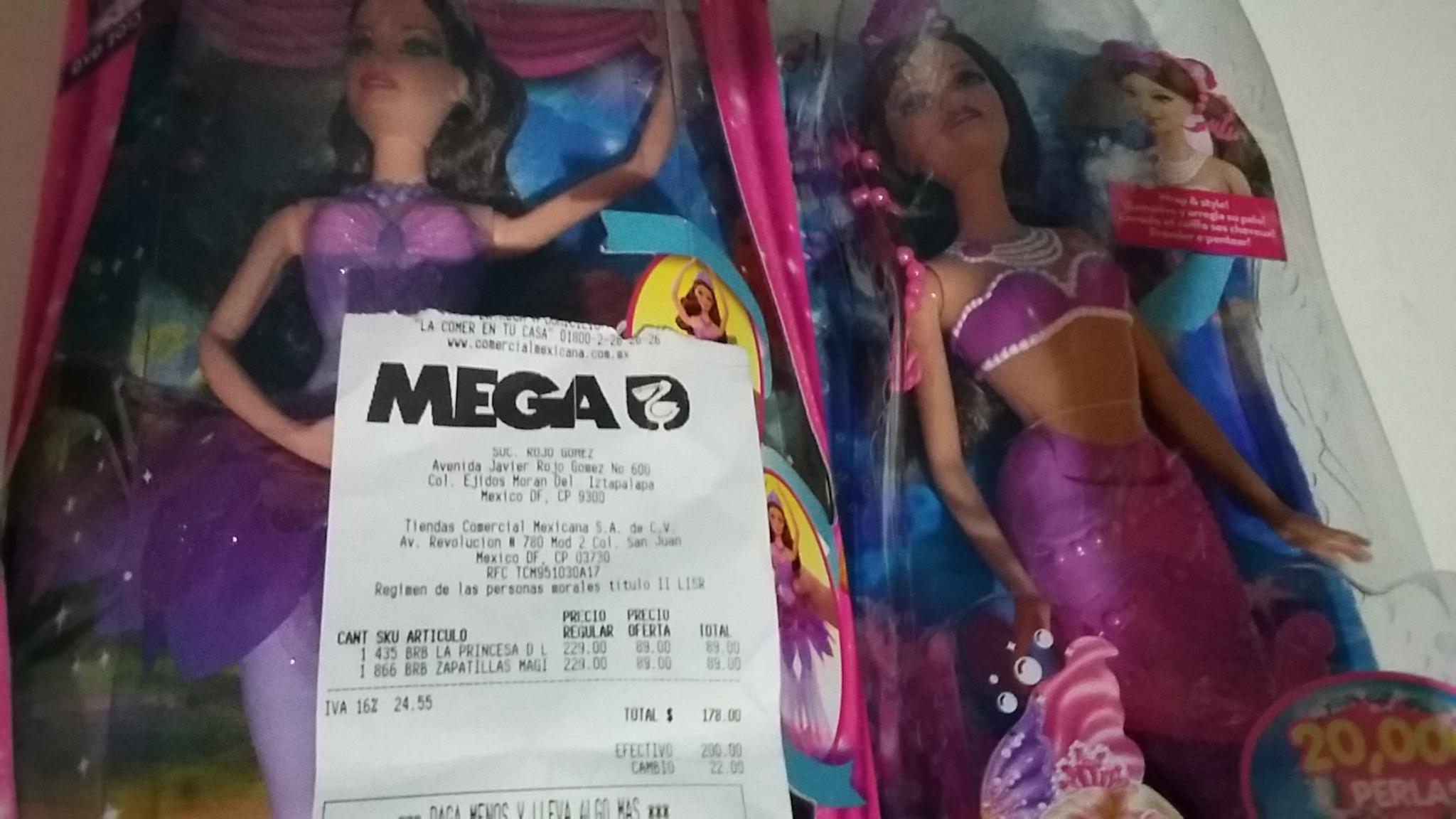 La Comer: muñecas Barbie en $89