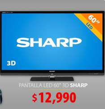 "Walmart: Sharp LED 3D Smart TV 60"" $12,990 y 12 meses sin intereses"