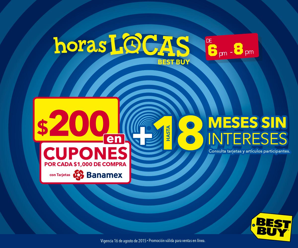 Best Buy: $200 pesos en cupones por cada $1,000 con Banamex (HOY de 6:00 pm a 8:00 pm)