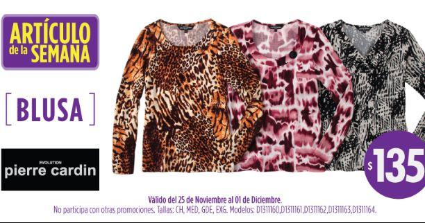 Oferta de la semana Suburbia: blusa Pierre Cardin $135