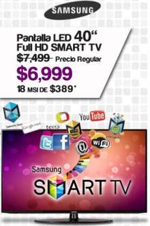 "Famsa: Samsung LED Smart TV 40"" UN40EH5300 $6,990 y 12 meses sin intereses"