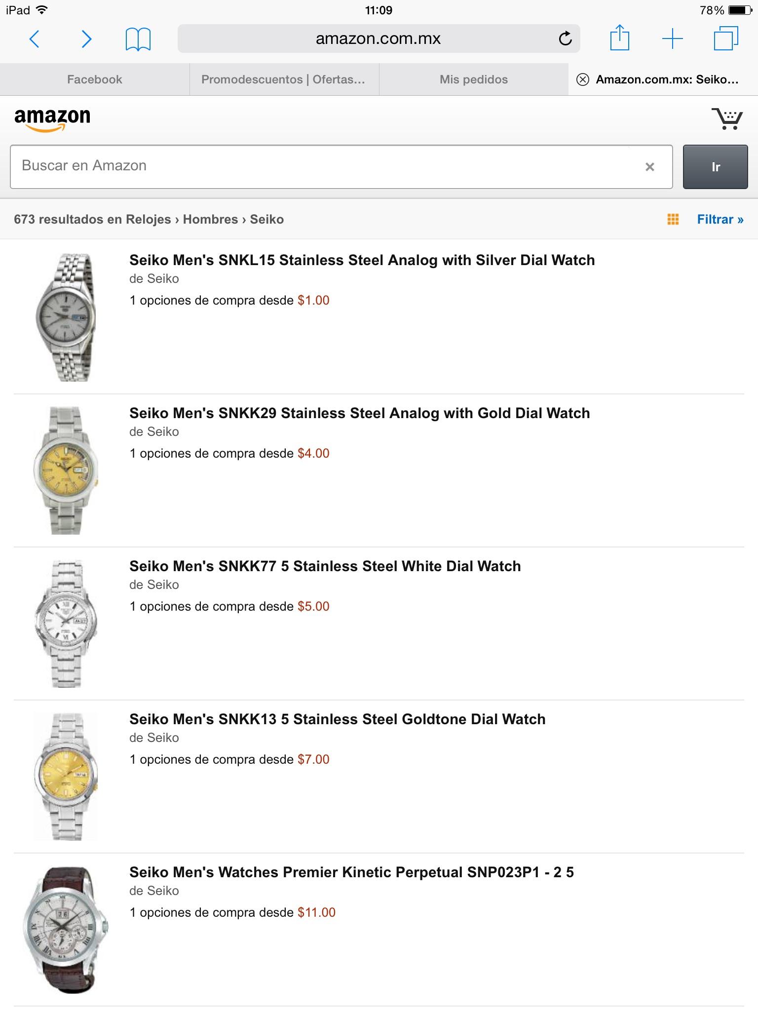 Amazon: Relojes seiko