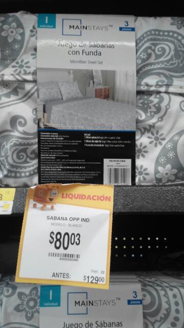 Walmart: Juego de sabanas individual Mai Stays a $80.03