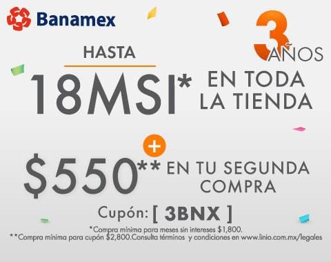 LINIO: 18 MSI en toda la tienda + cashback con Banamex