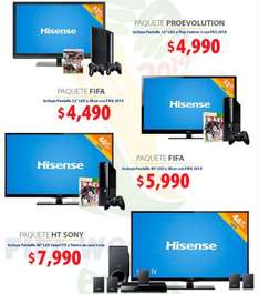 "Walmart: Smart TV 46"" + teatro en casa $7,990, pantalla LED 40"" + Xbox 360 $5,990 y +"
