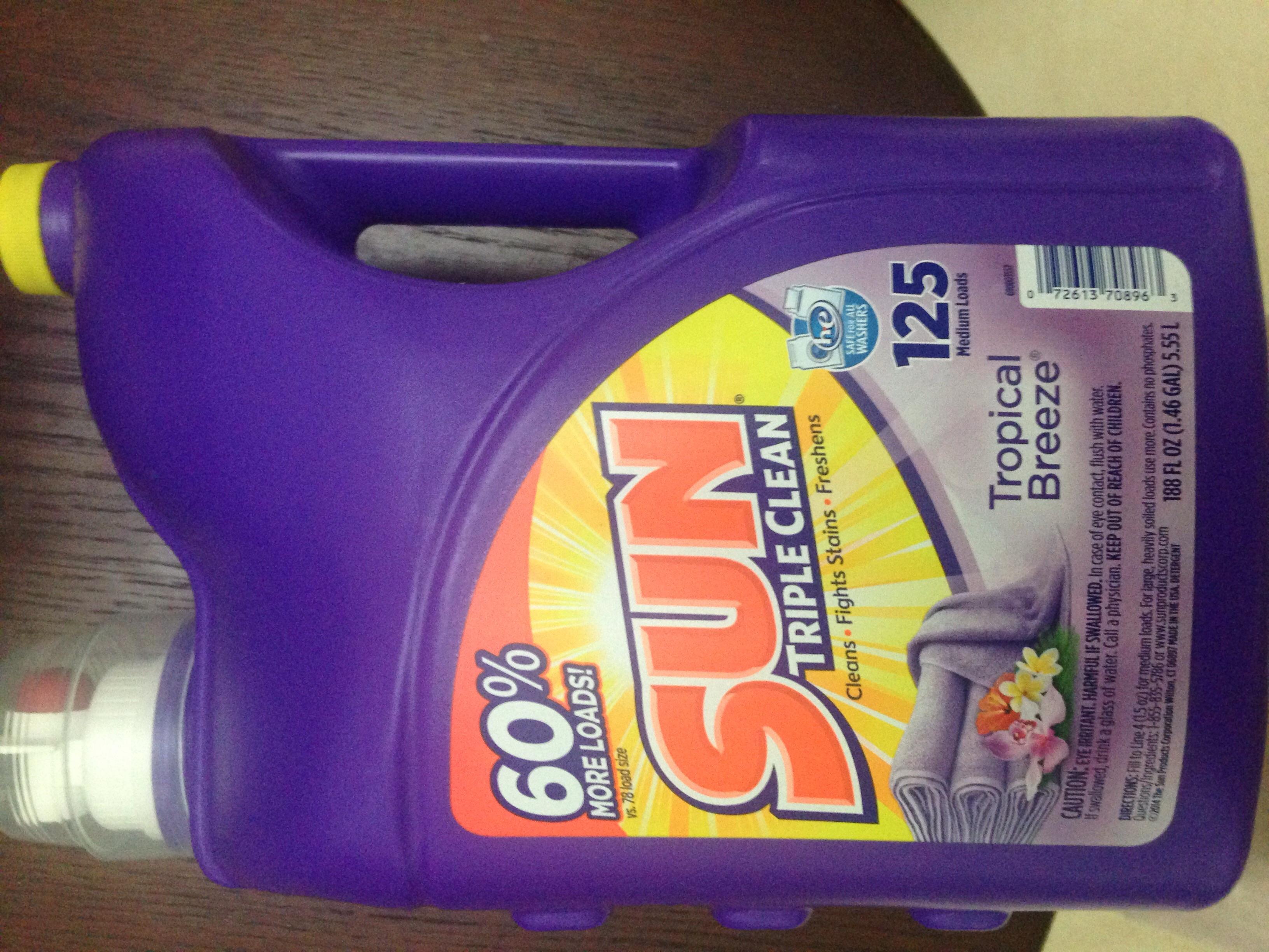 Walmart: detergente Sun 5.15 lts a $33.03