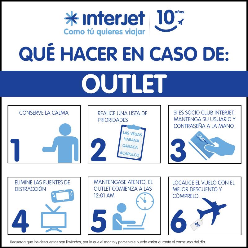 Outlet Interjet Hasta 60% de Descuento en Todas Las Rutas!
