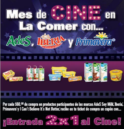 La Comer: 2x1 para el cine comprando productos Ades, Primavera y más