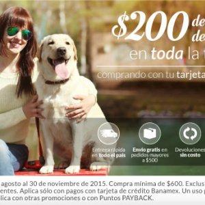 Petsy: $200.00 de descuento + envío gratis con Banamex