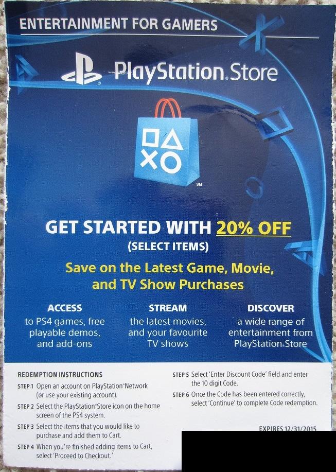 GameDealDaily: Cupón de 20% de descuento para la PSN Store por $6.75usd