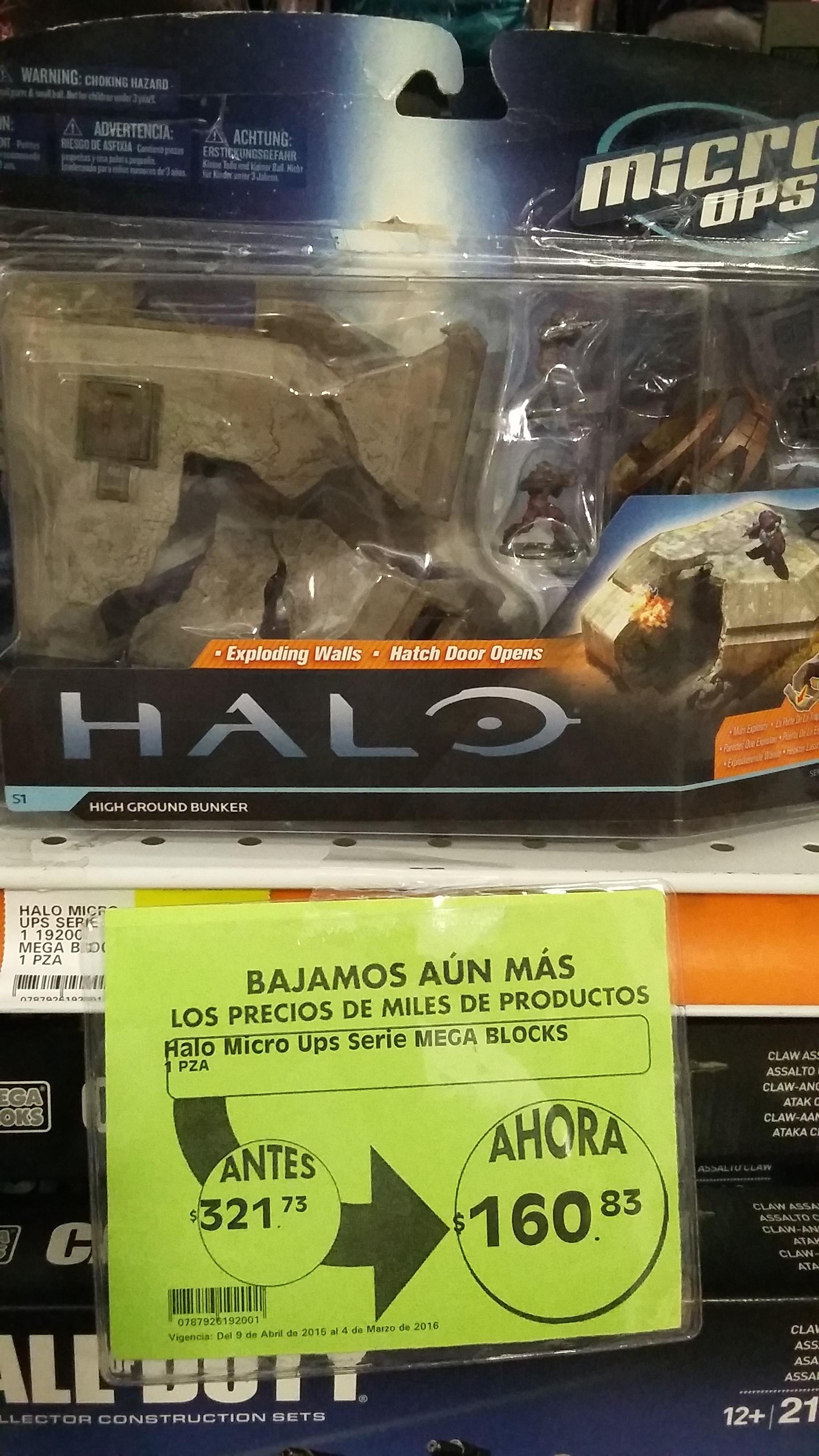 La Comer: Promoción de Halo Micro Ops serie Mega Blocks