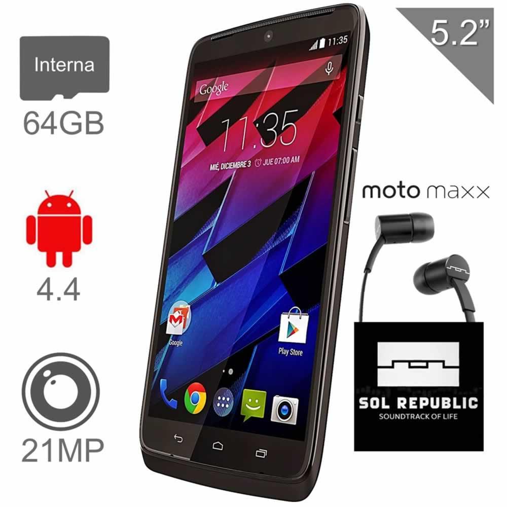 Walmart: Motorola Moto Maxx $7,199 + Audifonos Sol Republic de cortesia