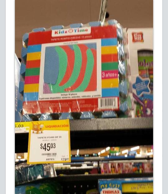Walmart: tapete de Foamy $45.03