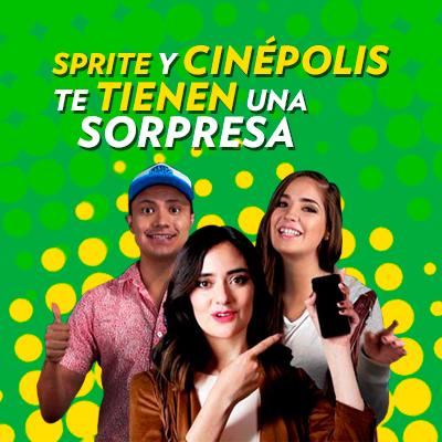 Sprite y Cinepolis cine gratis
