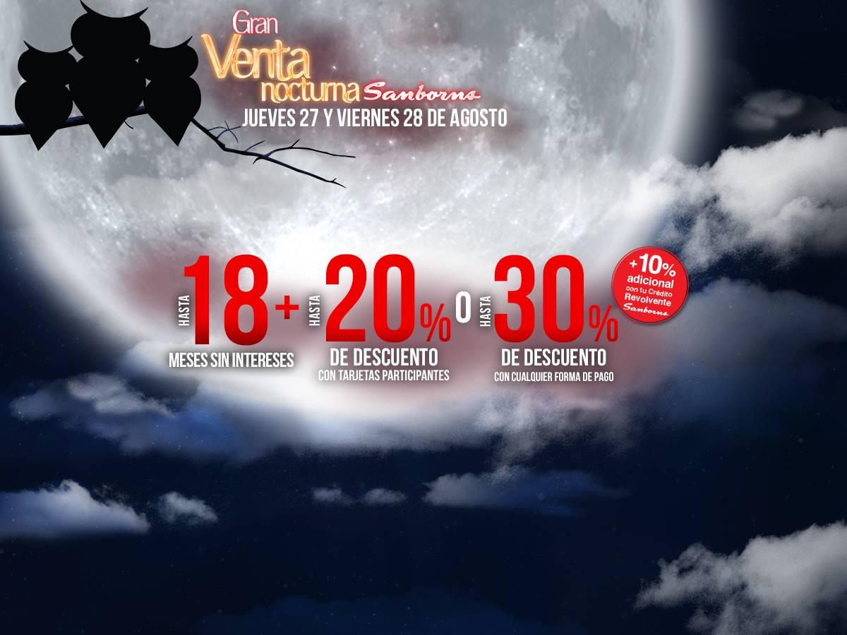 Venta Nocturna Sanborns (27 y 28 de Agosto)
