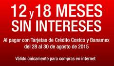 Costco: 12 y 18 MSI con TC Costco y Banamex, sólo por internet