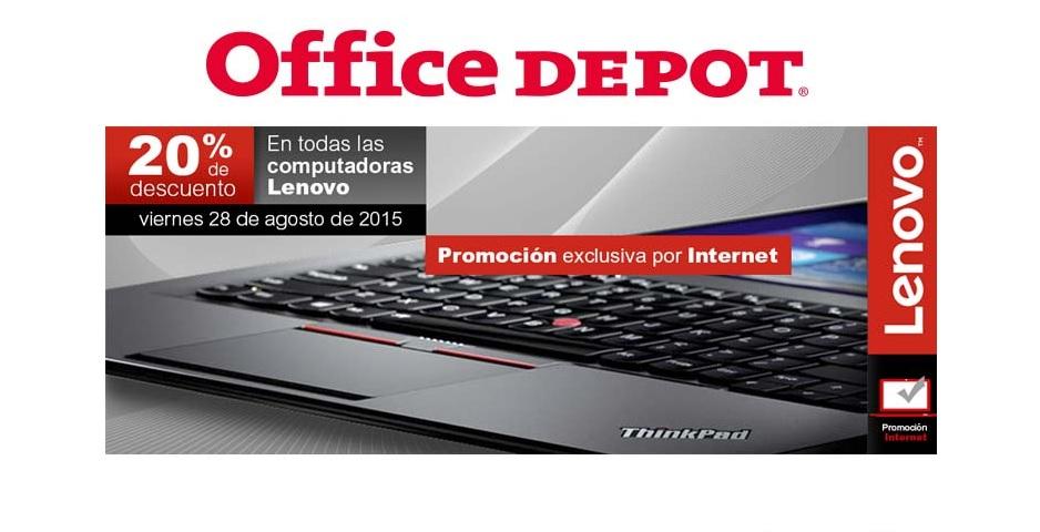 OFFICE DEPOT: 20% de descuento en computadoras Lenovo