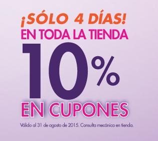 Suburbia: 10% en cupones en toda la tienda.