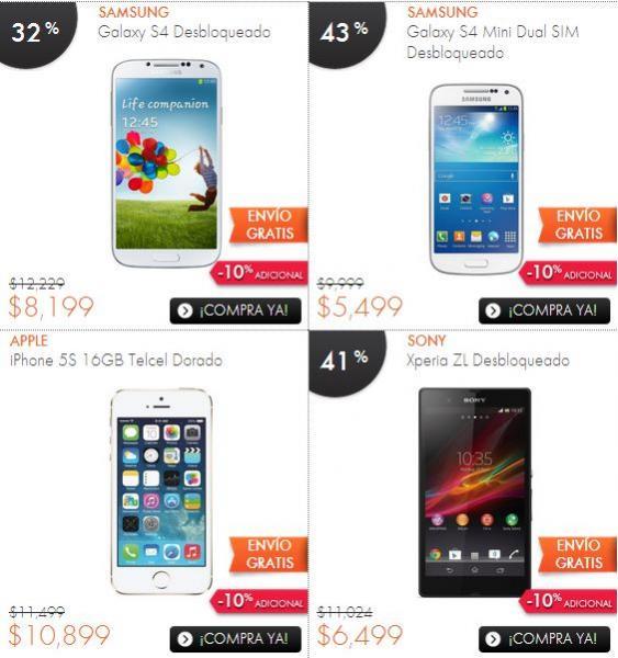 Ofertas del Buen Fin en Linio: Galaxy S4 $7,379, iPhone 5C $7,514, iPad Mini $3,677
