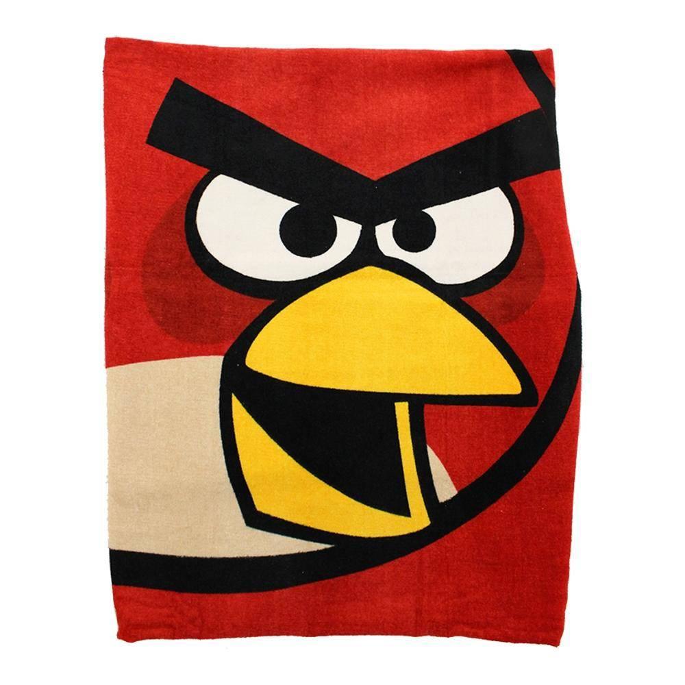 Walmart online Toalla Angry Birds de Medio Baño Rojo