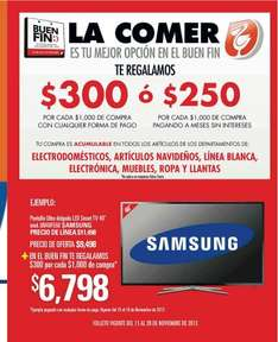 Folleto de ofertas del Buen Fin 2013 en Comercial Mexicana