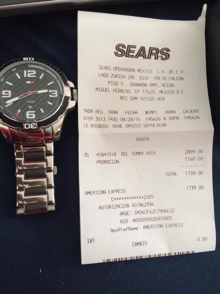 Sears: reloj Tommy Hilfiger a $1,739